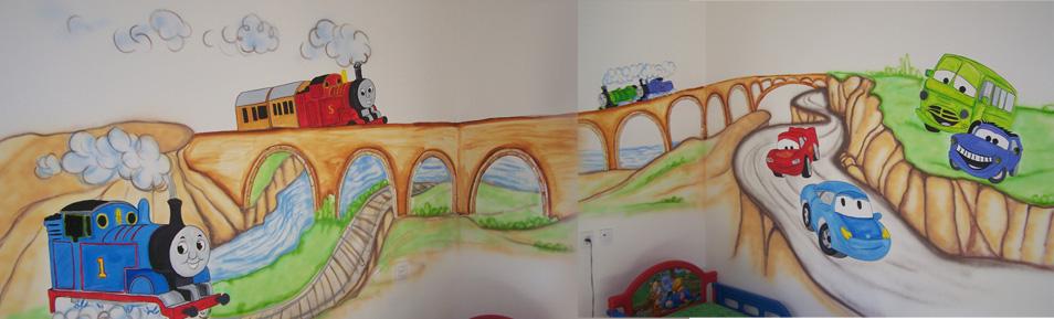 ציור קיר רכבות הזמן