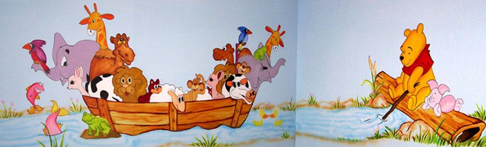 ציור קיר של תיבת החיות