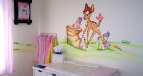 ציורי קיר נאיביים לחדרי תינוקות