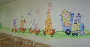 ציורי קיר למשפחתונים ותינוקיות