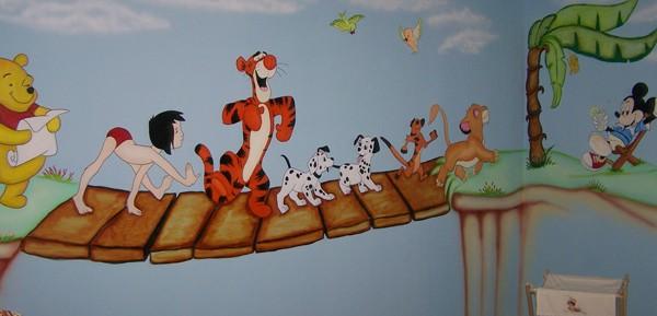 ציור קיר של דמויות מהאגדות