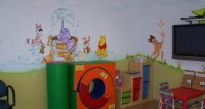 ציור על קירות בקליניקות ומכונים
