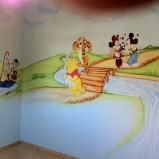 ציורי קיר של פו הדב וחברים