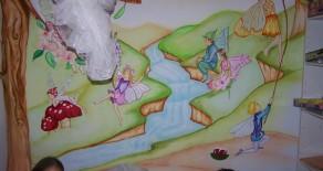 ציורי קיר של פיות – החדר המושלם