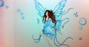 ציורי קיר של פיות לנערות מתבגרות