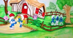 אוסף ציורי קיר בגני ילדים ופעוטונים