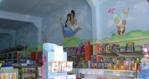 ציורי קיר לחנויות מוצרי תינוקות