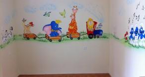 ציורי קיר של רכבת החיות