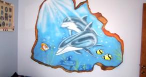 ציורי קיר מעולם המים